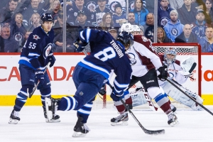 Winnipeg Jets defenceman Jacob Trouba (8). SHAWN COATES PHOTO